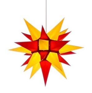 I4 - Original Herrnhuter Stern für innen ø 40 cm rot / gelb