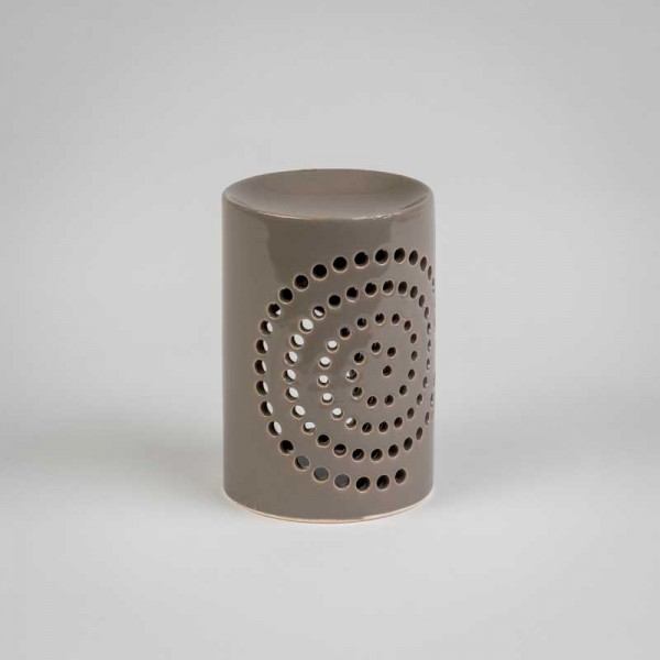 Fragrance Lamps Ceramics - gray - Cylinder