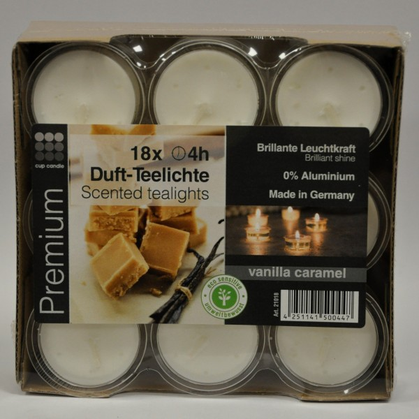 Premium-cented-Tea-light - Vanilla-Caramel