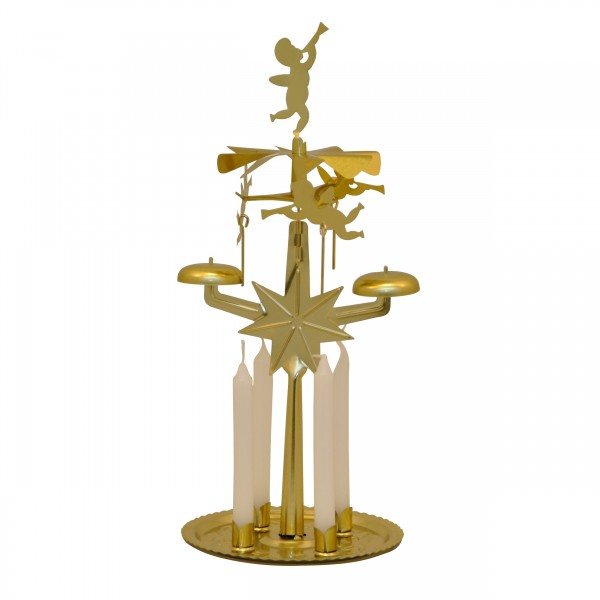 Iron Candle Chime with 4 Candles