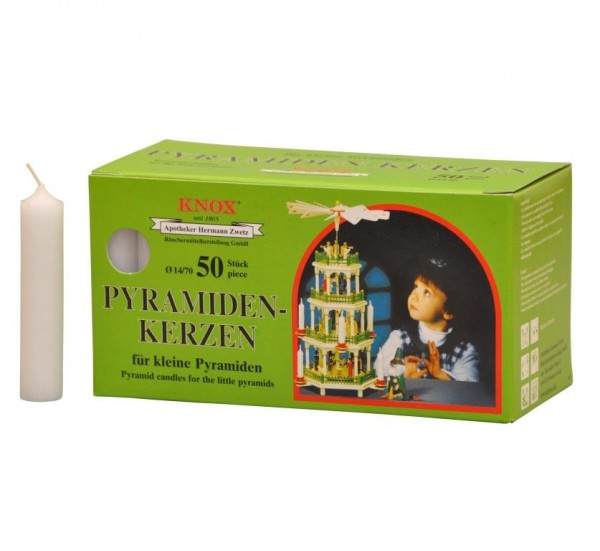 Pyramid Candles Knox white 50 pieces / pack.