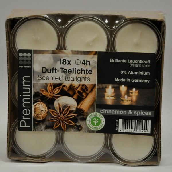 Duft-Teelicht - Zimtgewürze