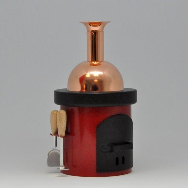 Räuchenofen - Braukessel - Blech - rot