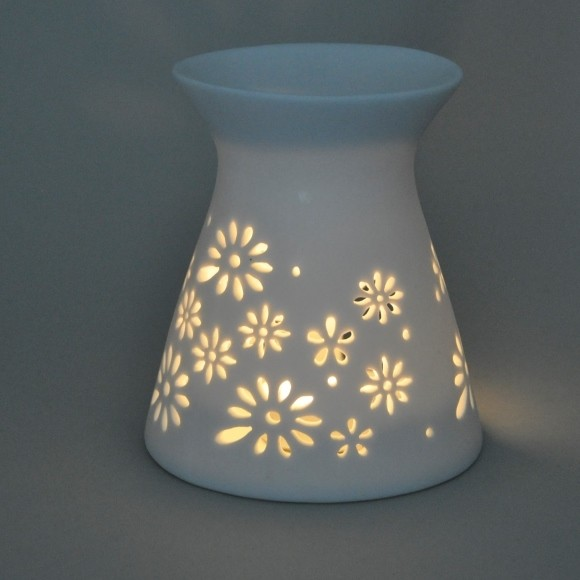 Fragrance Lamps Ceramics - White - Cone