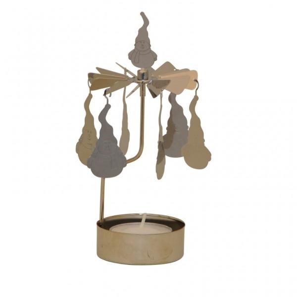 Lichtspiel Schneemann mit 1 Teelicht