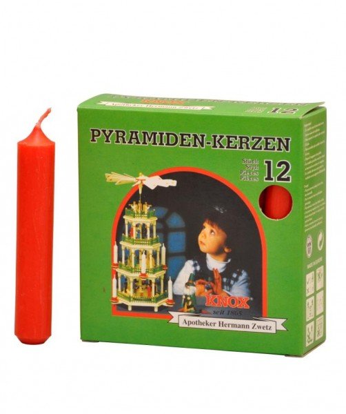 Pyramid Candles Knox red 12 pieces / pack.