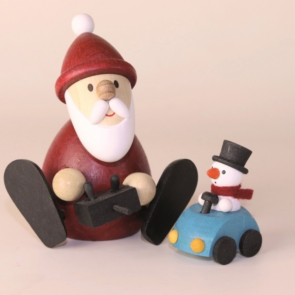 Santa Claus with a Remote-Controlled Car