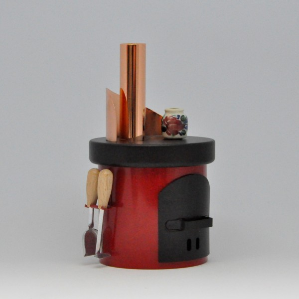 Räucherofen - Küchenherd - Blech - rot