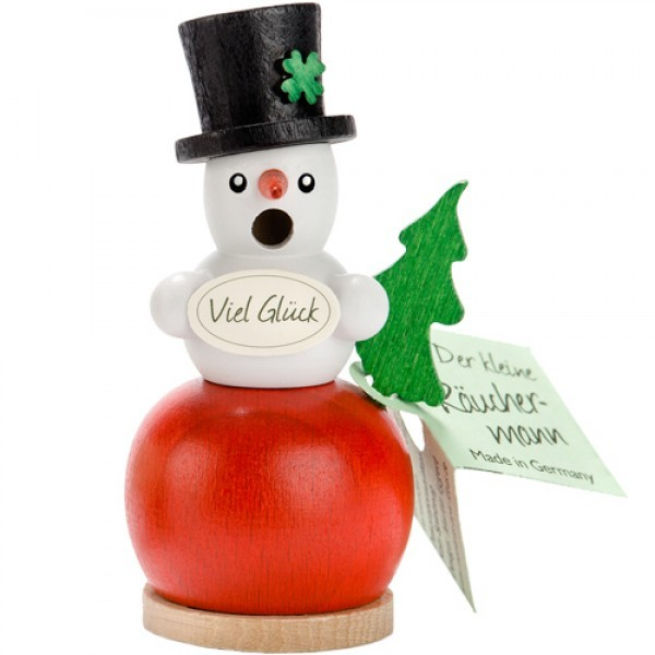 Snowman on red Ball