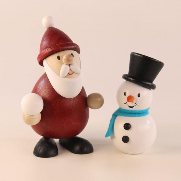 Weihnachtsmann und Schneemann