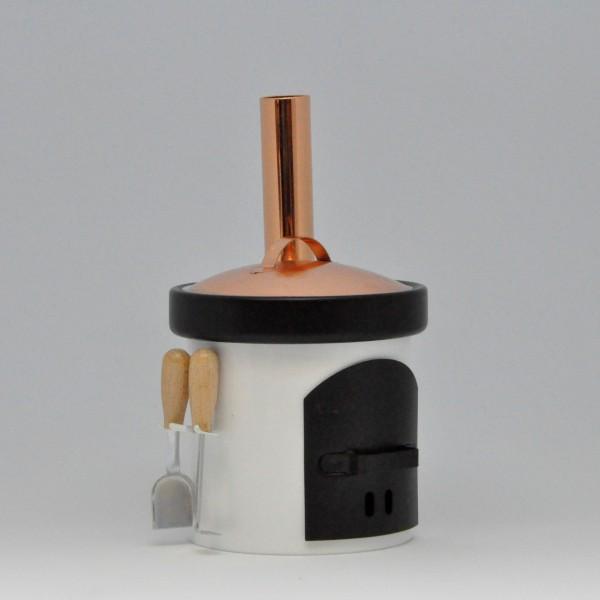 Smoking oven - washing kettle - white