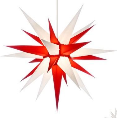 I7 - ORIGINAL HERRNHUTER STERN FOR INSIDE Ø APPROX. 70 CM WHITE / RED