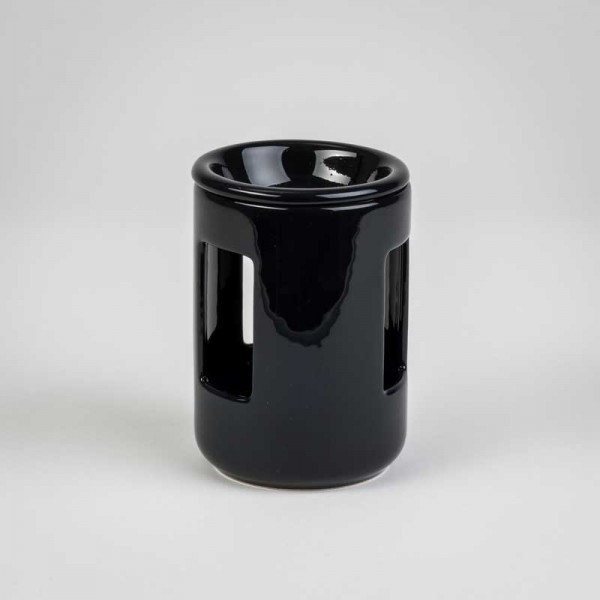 Fragrance Lamps Ceramics - Black - Cylinder