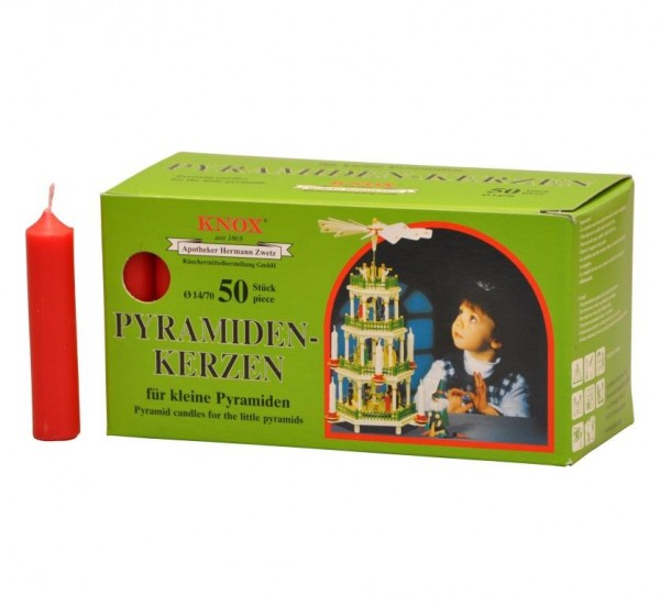 Pyramid Candles Knox red 50 pieces / pack.