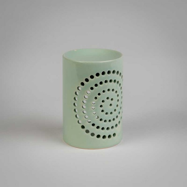 Fragrance Lamps Ceramics - mint - Cylinder