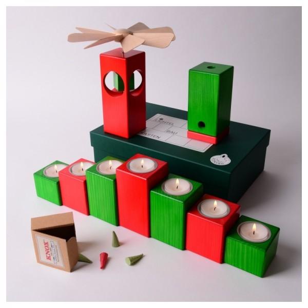 Lichterbaukasten grün-rot