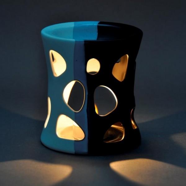 Duftlampe Keramik - schwarz